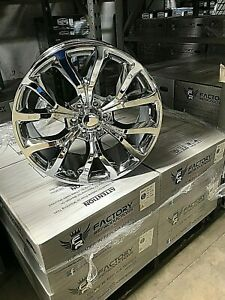 4 22 Ford F150 Expedition Style Chrome Wheels Rims Set Fits For 04 19