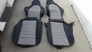 Porsche 944 924 911 Standard Seat Kit New Upholstery Black white Hounds Tooth