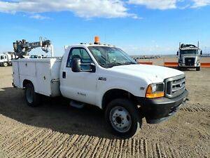 2001 Ford F450 Xl Mechanics Truck Venturo Crane stock 2580