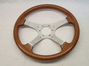 Personal Vintage Wood Racing Steering Wheel Made In Italy