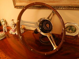 Jaguar Xk140 Wood Steering Wheel Derrington 16 Original Vintage 1950 S Nos New