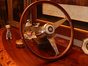Mercedes R107 350 Sl Wood Steering Wheel Nardi 15 Polished Nos Vintage Hub New