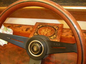Jaguar Xjs 1986 89 Wood Steering Wheel 13 75 Nardi Deep Dish 3 New