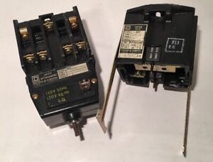 Square D Control Relay 8051 Series D With Latch Attachment Series A 120v 10 Amp