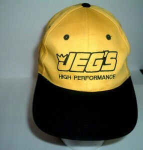 Jegs High Performance Auto Parts Cap Yellow Amp Black Adjustable Snap Back Hat