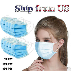 Adult 3 ply Disposable Half Face Protective Masks Children Child Mouth Cover