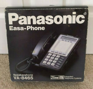 Panasonic Easa Phone 2 line Integrated Telephone System Va 8465 New Old Stock
