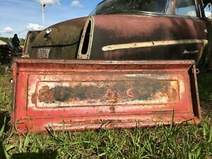 1954 1955 1st Gmc Pickup Truck Step Side Box Tail End Gate Tailgate Rare 54 55