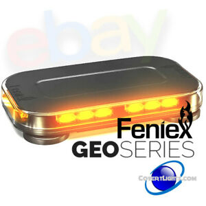 New Feniex Amber Geo Series Mini Led Magnet Lightbar Built Texas Tough 5yrusa