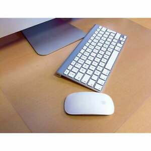 Desktex Pack Of 2 Desk Protector Mats Strong Polycarbonate Rectangular
