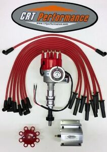 Ford 351c 351m 400 429 460 Small Hei Distributor Red 60k Coil Plug Wires Usa