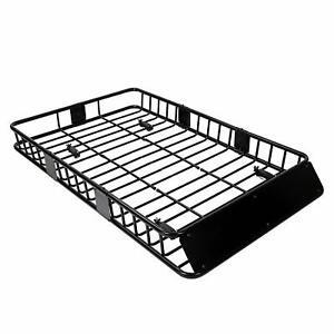 64 Universal Roof Rack W Extension Cargo Suv Top Luggage Carrier Basket Holder