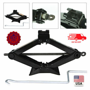 2t Tons Heavy Duty Wind Up Scissor Jack Stands For Auto Car Suv Van Speed Handle