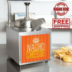 3 5 Qt 10 Can Warmer Hot Fudge Chili Nacho Cheese Commercial W Pump And Spout