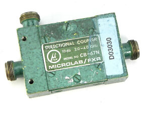 Microlab fxr Cb 67n Dual Section Wideband Air line 10 Db Directional Coupler