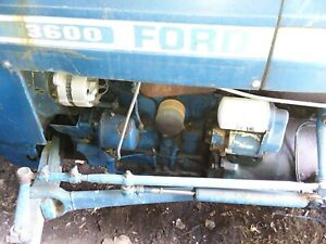 Running Diesel Ford 3600 Tractor Bushhog Plow Spreader Model Ca213c