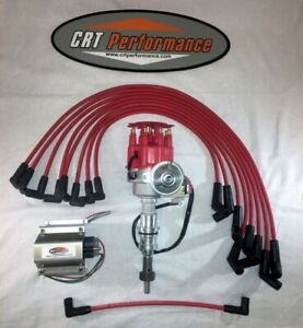 Ford 221 260 289 302 Sbf Small Cap Electronic Distributor Kit Red 60 000v