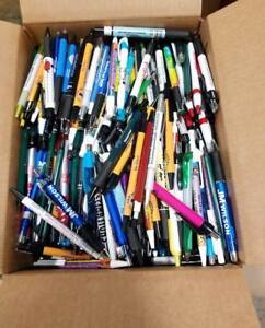 1000 Wholesale Lot Misprint Ink Pens Ball Point Plastic Retractable