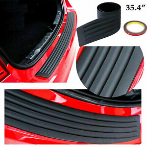 1pc 35 4 Rear Bumper Guard Trunk Edge Black Rubber Protector Strip Trim Cover