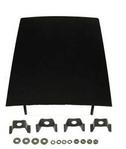 1968 74 Chevy Ii Nova More Black Forward Floor Console Plate With Hardware