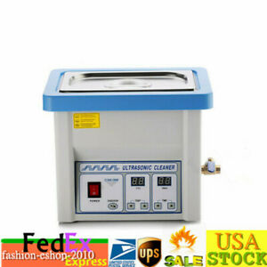 5l Dental Lab Digital Ultrasonic Cleaner Clean Machine W Heater Timer basket Us