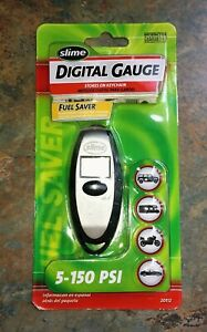Slime Digital Tire Pressure Gauge 5 To 150 Psi Key Chain Storage Free Ship