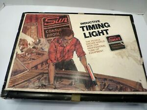 Vintage Sun Cp7501 Inductive Timing Light Tune Up Manual In Box