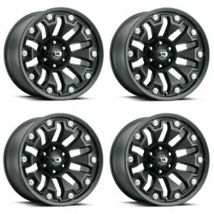 Set 4 20 Vision Armor 362 Black Wheels 20x10 6x135 25mm Lifted Truck Rims