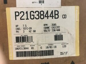 Rockwell Reliance P21g3844 P21g3844b 7 5 Hp Electric Motor