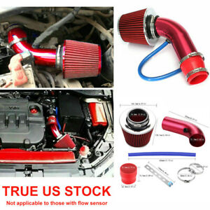 Universal Car Cold Air Intake Filter Alumimum Induction Kit Pipe Hose System Red
