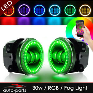 Multi color Rgb Halos Passing Driving Fog Lights For 2015 Jeep Grand Cherokee