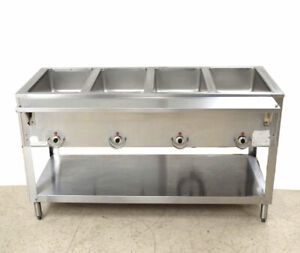 Aerohot 4 well Electric Water bath Steam Table Stainless 208 220v 1 ph Warmer Ac