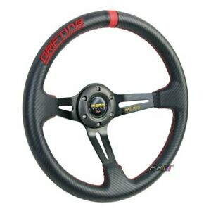 350mm Deep Dish Pvc Carbon Steering Wheel Fits For Momo Sparco Omp Boss Kit