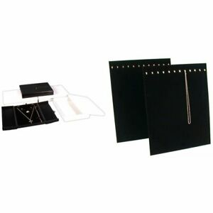 3 Earring Ring Necklace Gift Boxes 2 Black Velvet 12 Chain Necklace Display Kit