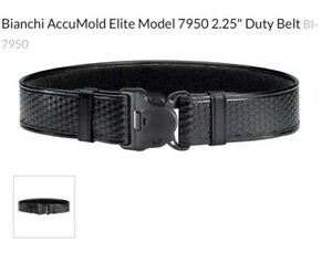 Bianchi Bi22125 7950 Duty Belt Basketweave Black Large 46 52