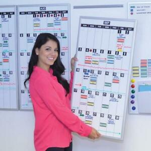 Ultimate Office Magnetic Dry erase Whiteboard Planning Calendar With Grids