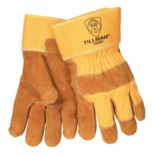 Tillman 1500y Split Cowhide Cotton Lined Canvas Back Work Gloves Large 12 Pack