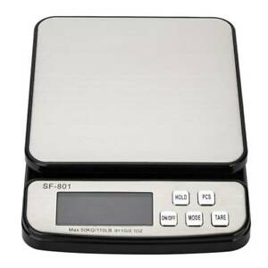 Digital Weight Electronic Postal Parcel Scale Led Screen Heavy Duty 110lbs 1oz