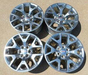 Gmc Sierra Yukon Denali 20 Polished Alloy Wheels Oem 5698
