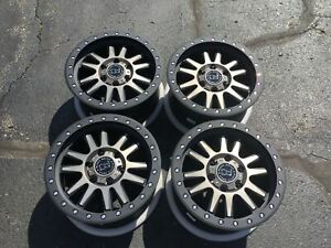 Set 4 20 Black Rhino Tanay Black W tint Wheels 20x9 6x120 30mm 6 Lug Truck Rims