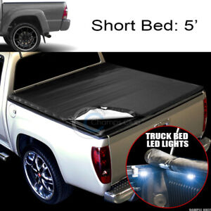 Snap On Vinyl Tonneau Cover 16x Led Lights For 16 18 Toyota Tacoma 5 Truck Bed