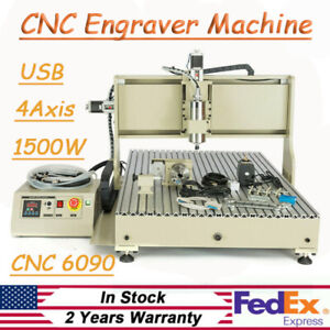 Usb 4 axis 6090 Cnc Router Engraving Machine Diy Woodwork Milling Engraver Kit