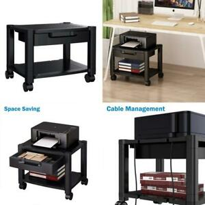 Printer Stand Under Desk With Cable 1 Pack Without Slot