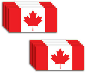 10pk Small Canada Flag Vinyl Decal Country Sticker Car Truck Canadian Maple Leaf