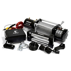Speedmaster 12000lbs 5445kgs 12v Electric 4wd Winch Kit W Wireless Remote