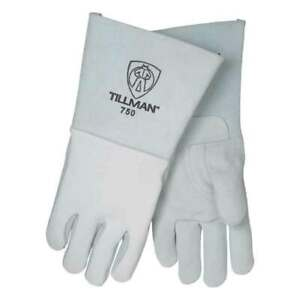 Tillman 750n Premium Top Grain Elkskin Nomex Back Welding Gloves Medium