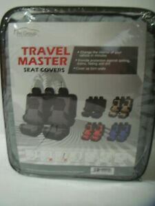 Fh Group Travel Master Seat Covers Airbag And Split Bench Compatible Gray