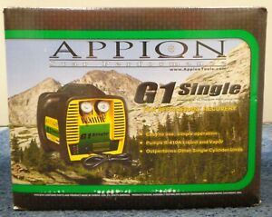 Appion G1 Single Hvac Single Cylinder Refrigerant A c Recovery Unit New In Box