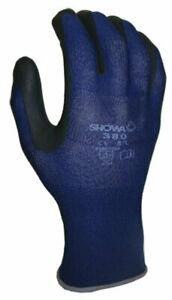 Showa Atlas 380 Foamed Nitrile Palm Coating Glove Medium pack Of 12 Pairs
