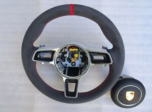 991 Gt3 Rs 991 997 Turbo S Alcantara Steering Wheel Red Top Red Stitching